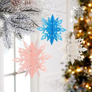 크리스마스 눈 모빌 눈꽃 모빌 카페데코 겨울장식