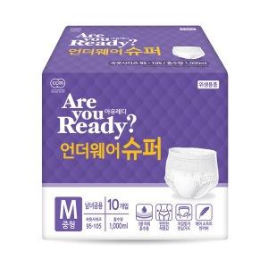 아유레디 성인용기저귀 언더웨어 수퍼 중형 10개x8팩