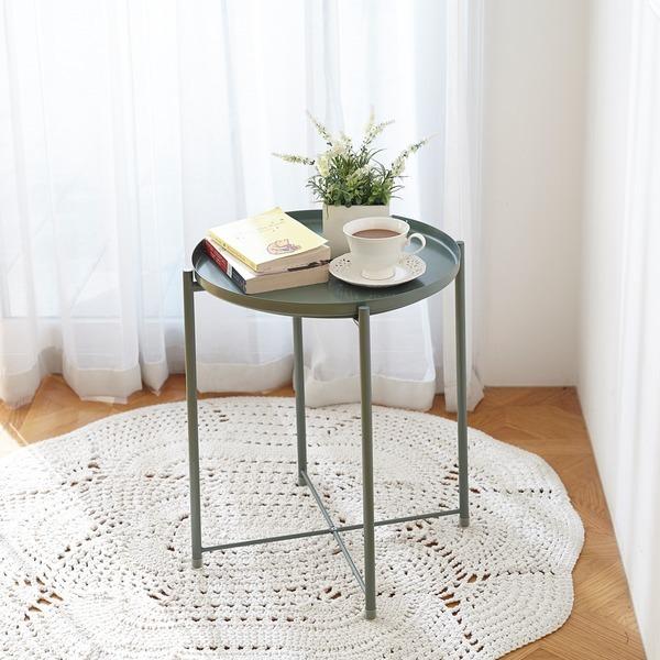 사이드테이블 올리브그린 / 거실 보조테이블 티테이블