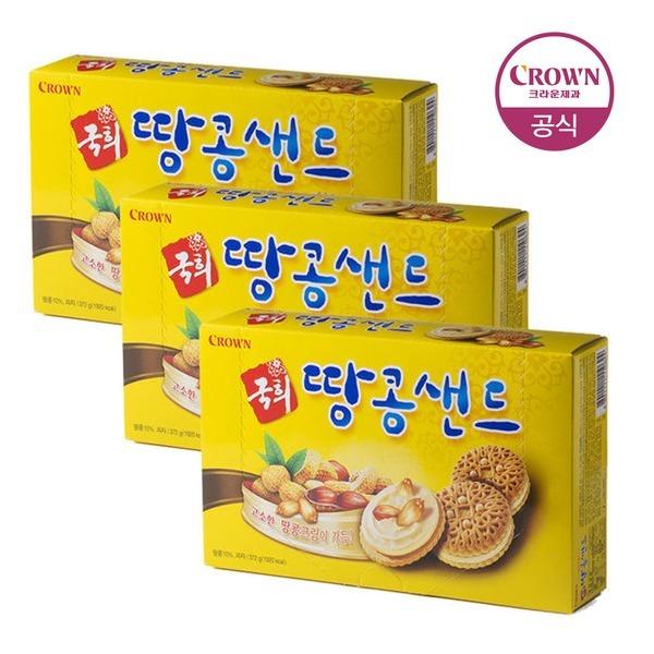 국희 땅콩 샌드 372g 12봉 3박스