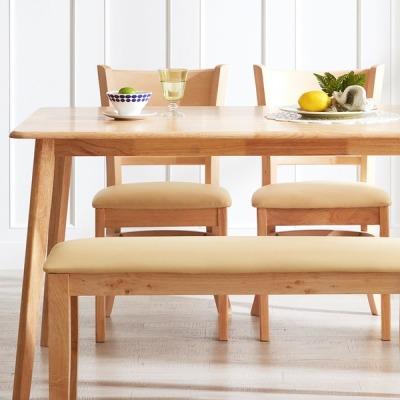 [아씨방] 아씨방 리빙특가 원목 4인식탁세트 (벤치+의자)