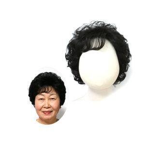 엄마가발 여성 전체 통가발 자연스러운 중년 볼륨가발
