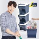 분리수거함 3P+전용봉투(40L) 100매 /재활용 가정용