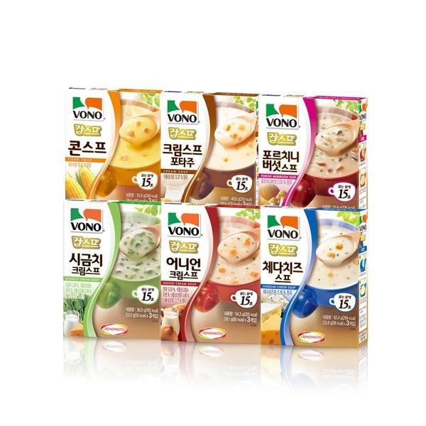 보노 스프 6종모음/컵스프/간식/어니언/시금치크림