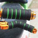오토바이 자전거 핸들그립 브레이크레버 스펀지 그린