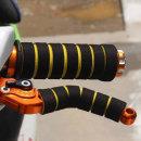 오토바이 자전거 핸들그립 브레이크레버 스펀지 옐로우