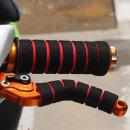 오토바이 자전거 핸들그립 브레이크레버 스펀지 레드
