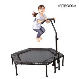 6각 트램폴린 (블랙) 점핑 다이어트 운동기구 방방이