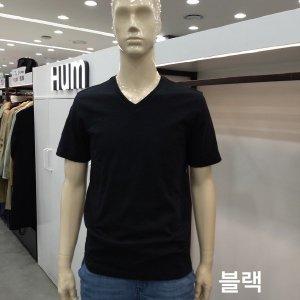 HUM  모다아울렛  HUM 흄)남여 공용  슬럽 V 넥 반팔 티셔츠(FHNMCTY701