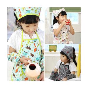 베니앙 유아동방수앞치마세트(앞치마+두건)/어린이집준비물(갤러리아)