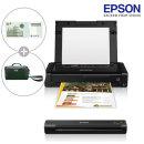 엡손 WF-100 ES-50 휴대용 프린터 스캐너 세트 +이벤트