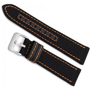 Milano Watchbands 18mm  Hadley Roma Orange Stitche
