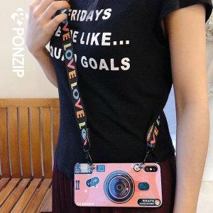 폰집  홍미노트4x 틱톡 카메라 케이스 스트랩 휴대폰