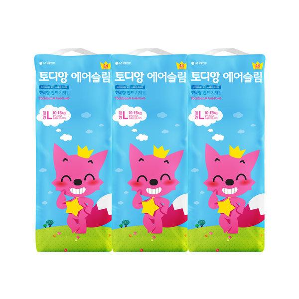 핑크퐁 에어슬림 밴드기저귀 대형 44매x3팩