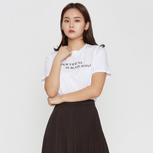 레터링 베이직 반팔 티셔츠 MIWHW9415A