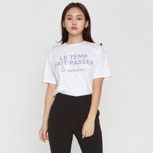 오버핏 레터링 반팔 티셔츠 MIWHW9417A