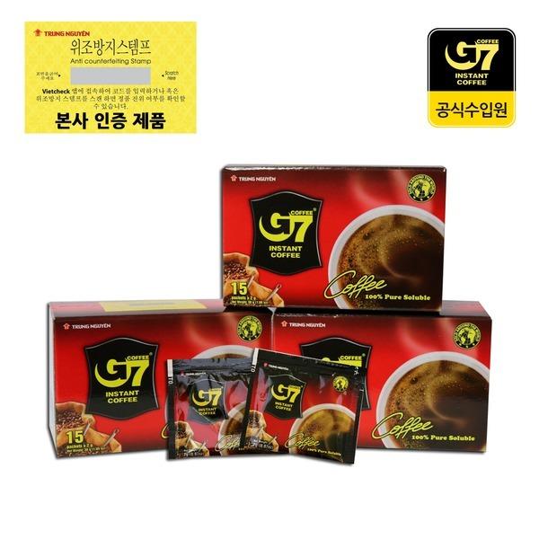 G7 블랙 30g (2g x 15개입) 수입커피 베트남커피