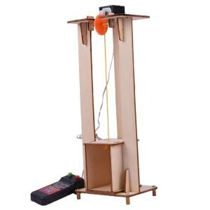 DIY 모델 어린이 전기 리프트 엘리베이터 과학 완구