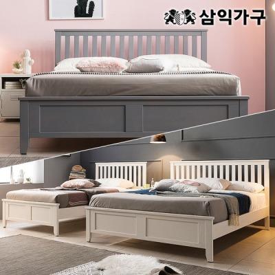 [삼익가구] 오슬로 프리미엄 원목 슈퍼싱글/퀸 침대