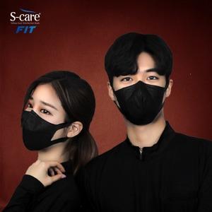 KF94 연예인 블랙 황사마스크 FIT-미세먼지마스크 30매