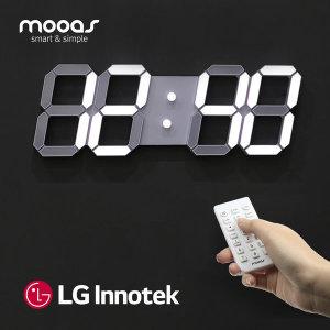 [무아스] LG이노텍 3D거실 LED벽시계 무선 리모컨 빅플러스 WB2
