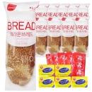 브라운브레드+미니 버터 5개+딸기잼 5개 세트/냉동빵