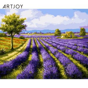 (아트조이)아트조이 DIY 명화그리기 라벤더 풍경 40x5