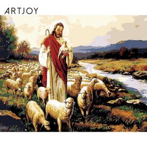 아트조이 DIY 명화그리기 예수와 양 40x50cm