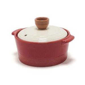 뚝배기 내열냄비 12cm (레드) 주방용품 세라믹뚝배기