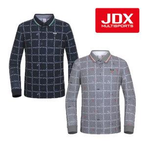 남성 전판올오버프린트 요꼬에리 티셔츠(X2QSTLM03)
