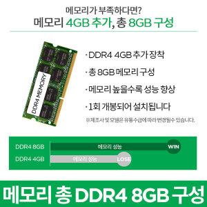DDR4 8GB로 구성 (4GBx2/1회개봉)(S340전용)