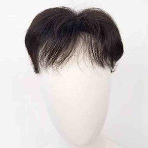 남성 M자탈모 헤어피스 가발 / 블랙