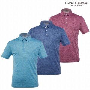 프랑코페라로 남성 여름 코튼혼방 스트라이프 티셔츠(ASY1201)