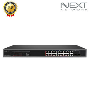16포트 10/100Mbps POE스위치 NEXT-POE316SFP-TP