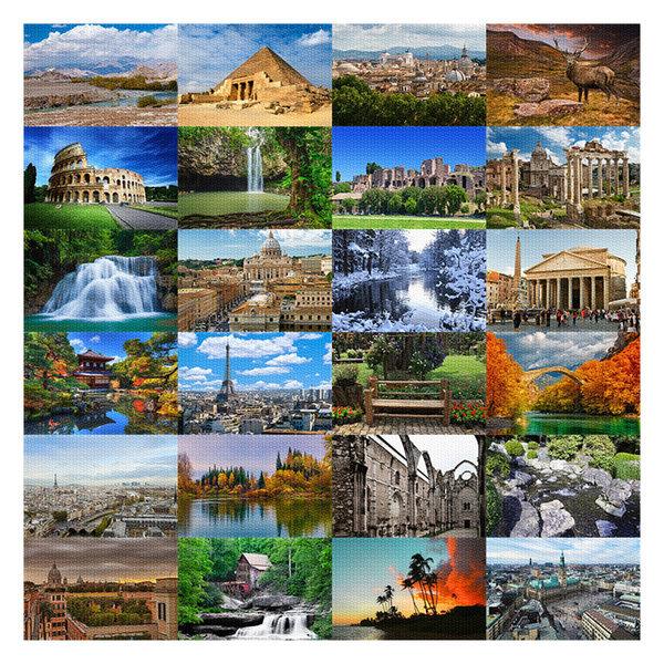 무료배송 한정수량 세계의 풍경 직소 퍼즐 균일가