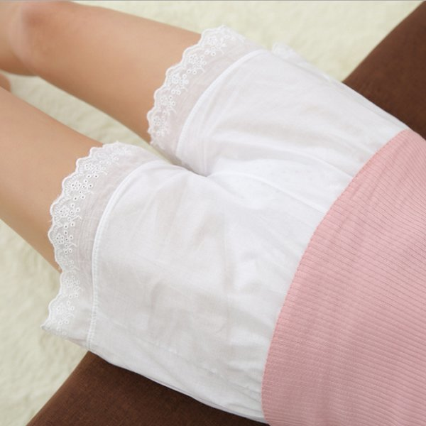아사면 레이스 속바지 잠옷 반바지 여름속바지