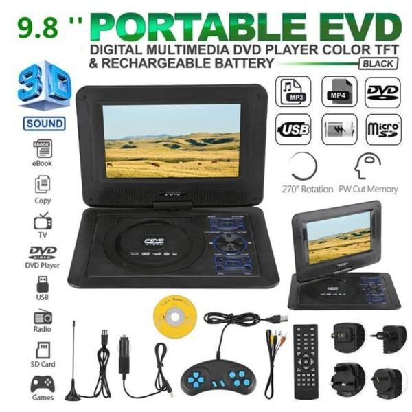 9.8인치 포터블 TV DVD CD 플레이어 - LCD