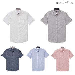 남성 기본 솔리드 반팔 셔츠 5종 택1