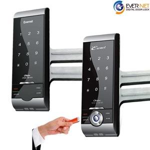 유리문 전용 디지털 도어락/보조키 GC 현관 손잡이 키