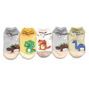 티라노SK 5족 유아동 발목 양말 세트 어린이 여아