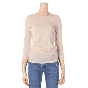 여성 골지 보트넥 7부 기본 이너 티셔츠(T192MTS132W)