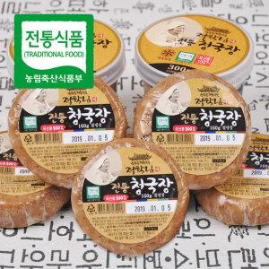 정학님 여사의 전통식품인증 수제 청국장 160g x 6개 / 비닐포장