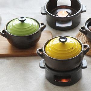 컬러뚝배기 2종세트(옐로우+그린)