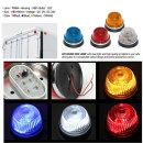 원형 LED 마커등 SL-03 적색/24V/화물차용품/국산/