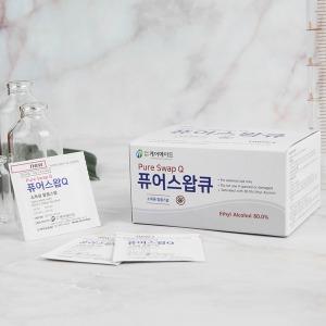케어메이트 소독용 알콜스왑 퓨어스왑큐 100매x10팩