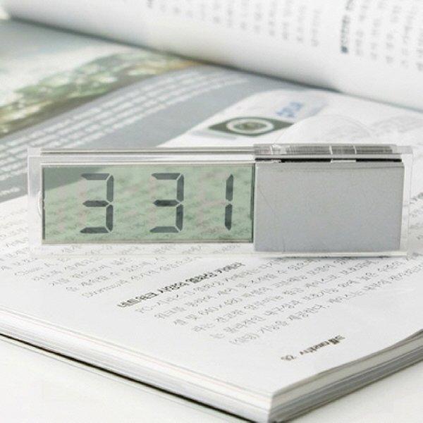 (C)차량용 시계 투명 디지털 유리부착 자동차인테리어