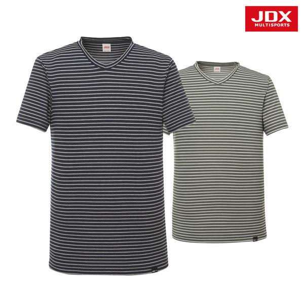 남성 스트라이프 브이넥 티셔츠 2종 택1 (X2PMTSM13)