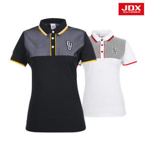 JDX  여성 가슴 절개포인트 요꼬 티셔츠 2종 택1 (X2NMTSW02)
