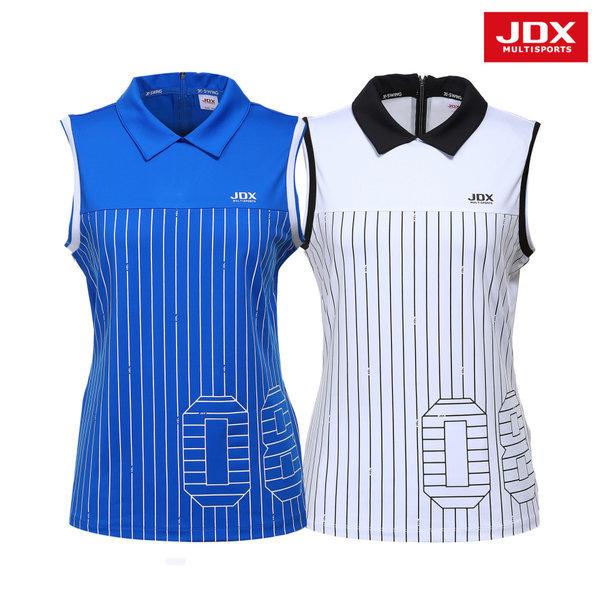 JDX  여성 세로 스트라이프 제에리 나시티셔츠 2종 택1 (X1NMTSW11)