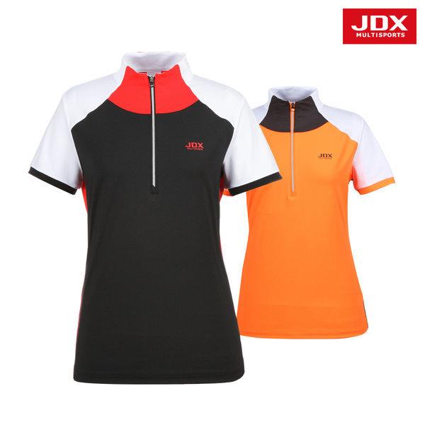 JDX  여성 배색절개 목크에리 티셔츠 2종 택1 (X1NMTSW07)